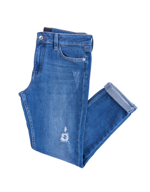 beautiful denim pants. - jeans stock photos and pictures