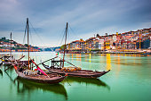 Beautiful depiction of boats at Porto Portugal