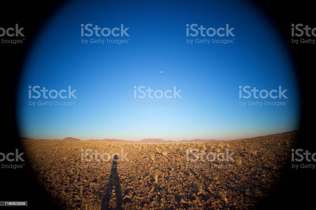 Beautiful Desert Landscape strong vignette photographic effect...