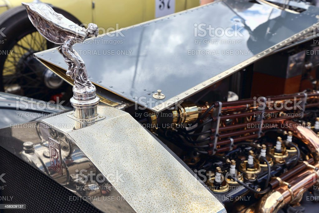 Beautiful details of the vintage Rolls Royce royalty-free stock photo