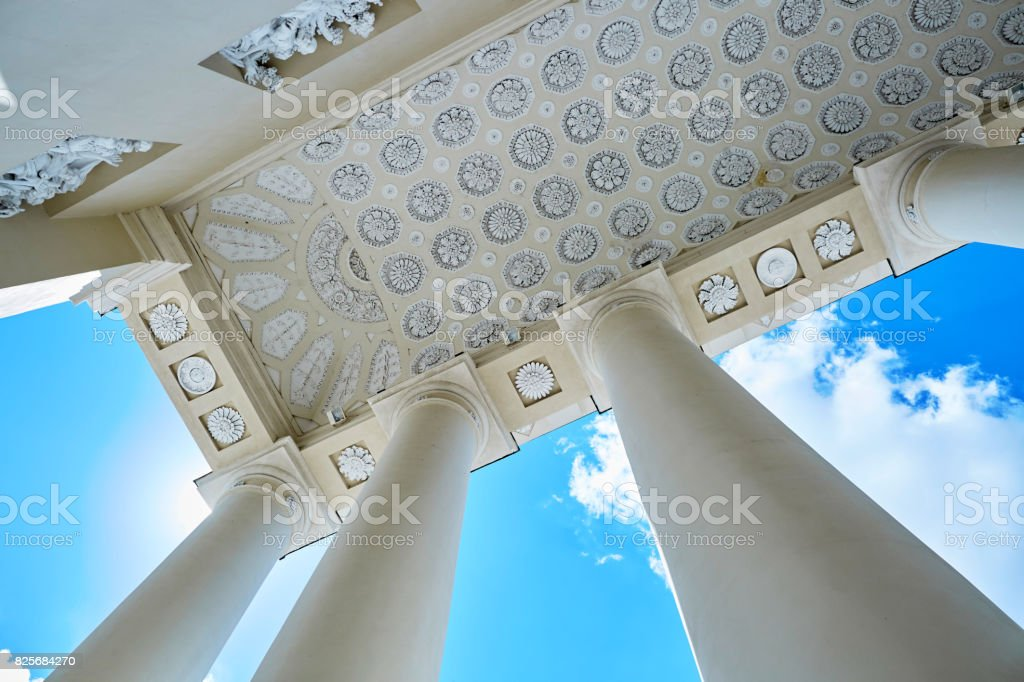 Beautiful details of Vilnius cathedral stock photo