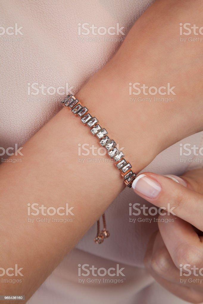 Beautiful Diamond Bracelet Gift for Women royalty-free stock photo