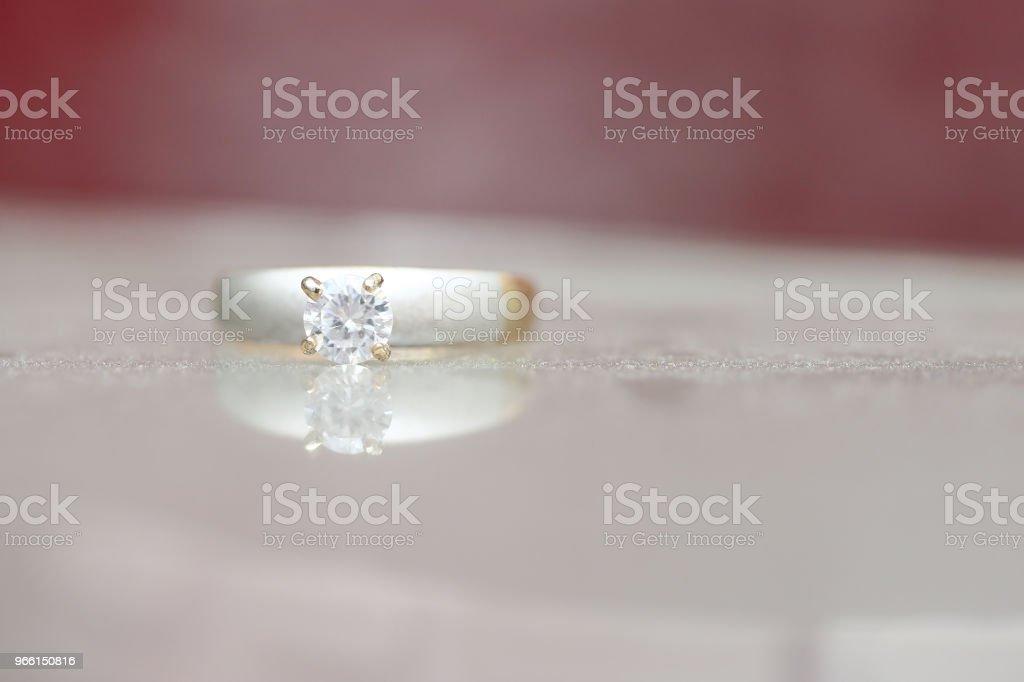 Wunderschöne Diamant-ring - Lizenzfrei Dekoration Stock-Foto