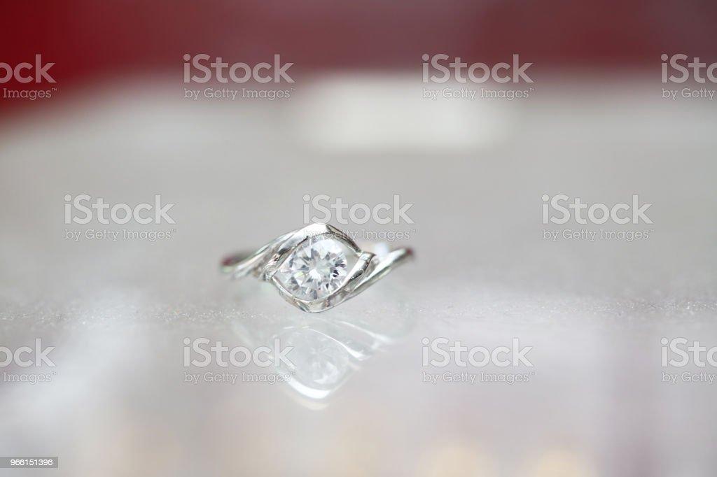 Beautiful diamond ring - Royalty-free Aniversário especial Foto de stock
