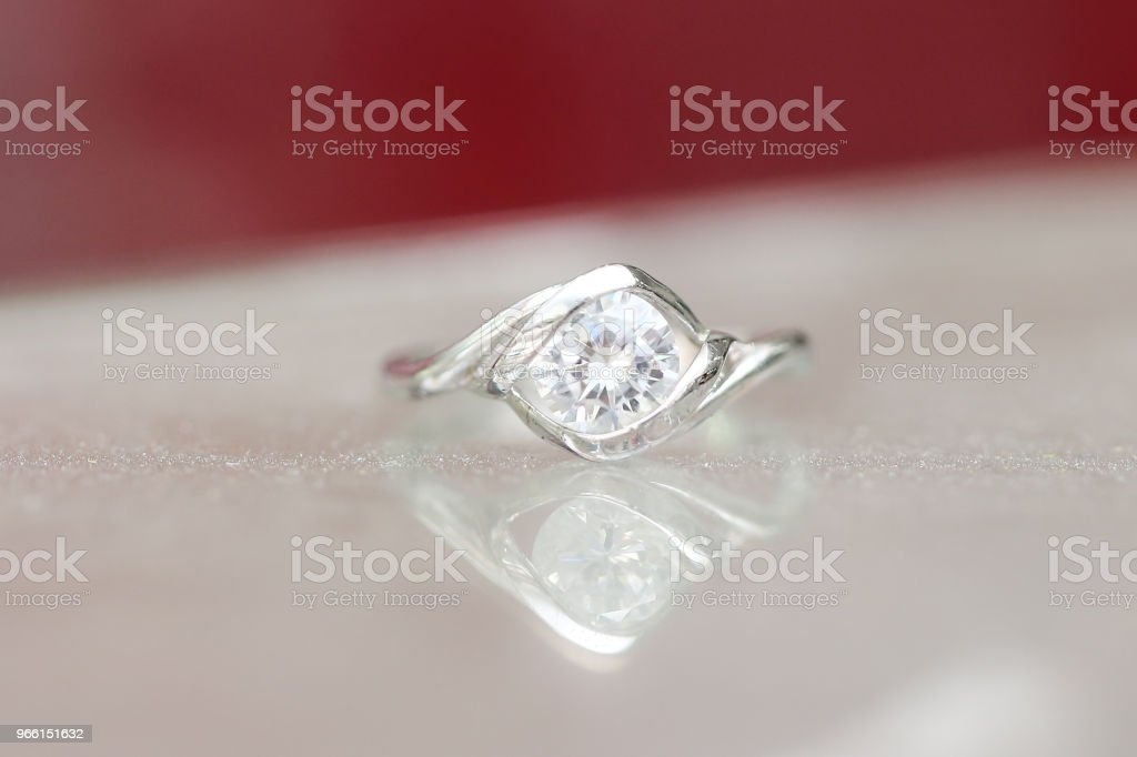 Mooie diamantring - Royalty-free Decoraties Stockfoto