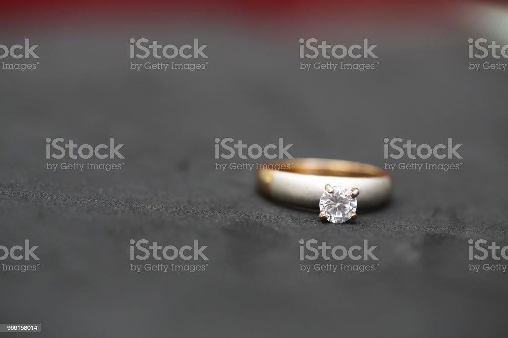 Mooie diamantring - Royalty-free Decoraties Stockfoto