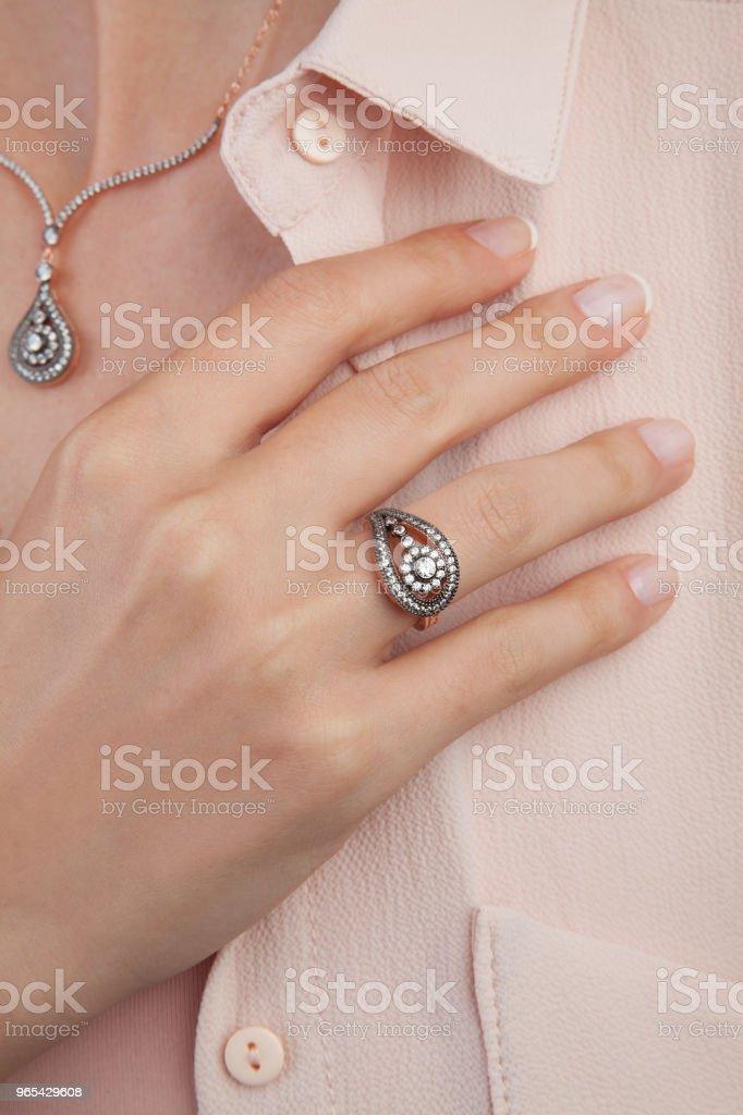 Beautiful Diamond Wedding Gift Set for Women royalty-free stock photo