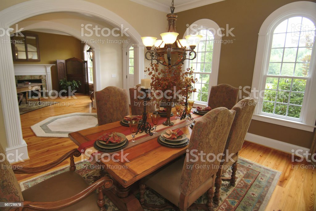 Beautiful Dining Room royalty-free stock photo