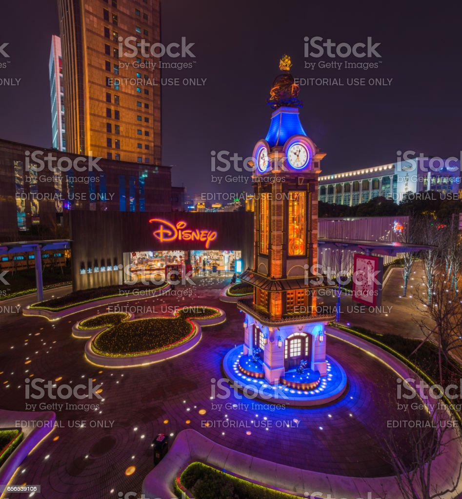 Beautiful Disney Store at Shanghai Lujiazui, China stock photo