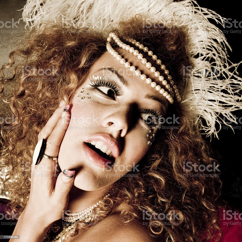 beautiful diva royalty-free stock photo