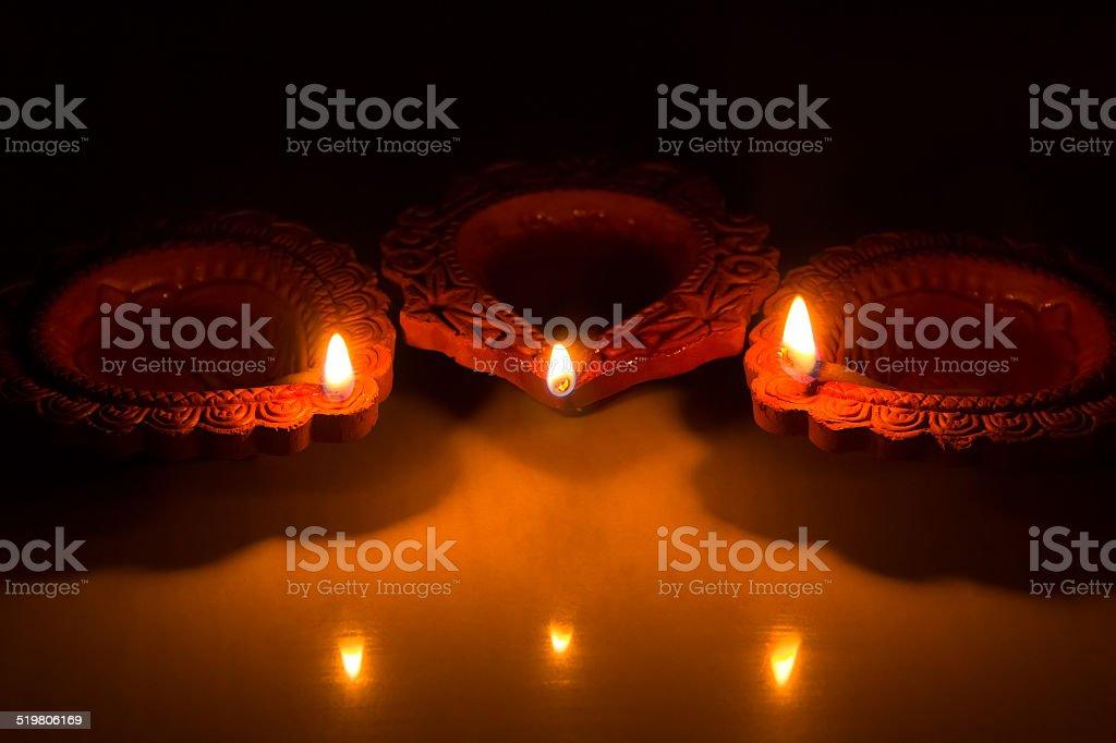 Beautiful Diwali Candels stock photo