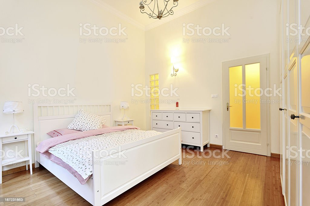 Beautiful domestic bedroom royalty-free stock photo