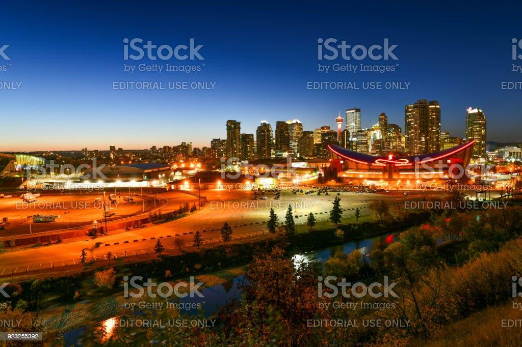 Beautiful Downtown Calgary,Canada stock photo