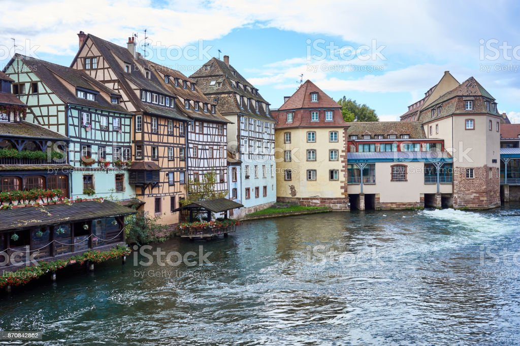 Beautiful downtown of Strasbourg stock photo