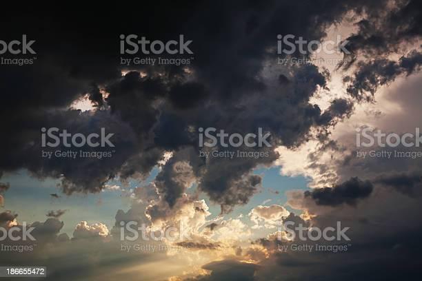 Photo of Beautiful dramatic sky with sun rays.