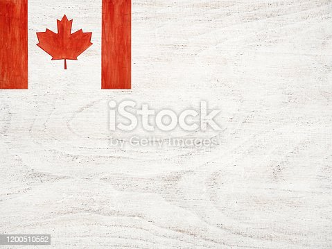 istock Beautiful drawing of the Canadian Flag. Closeup 1200510552
