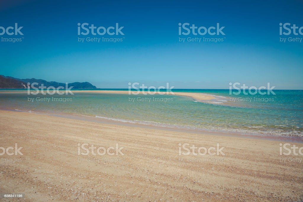 Beautiful dreamy ocean landscape with clear turquoise ocean watee stock photo