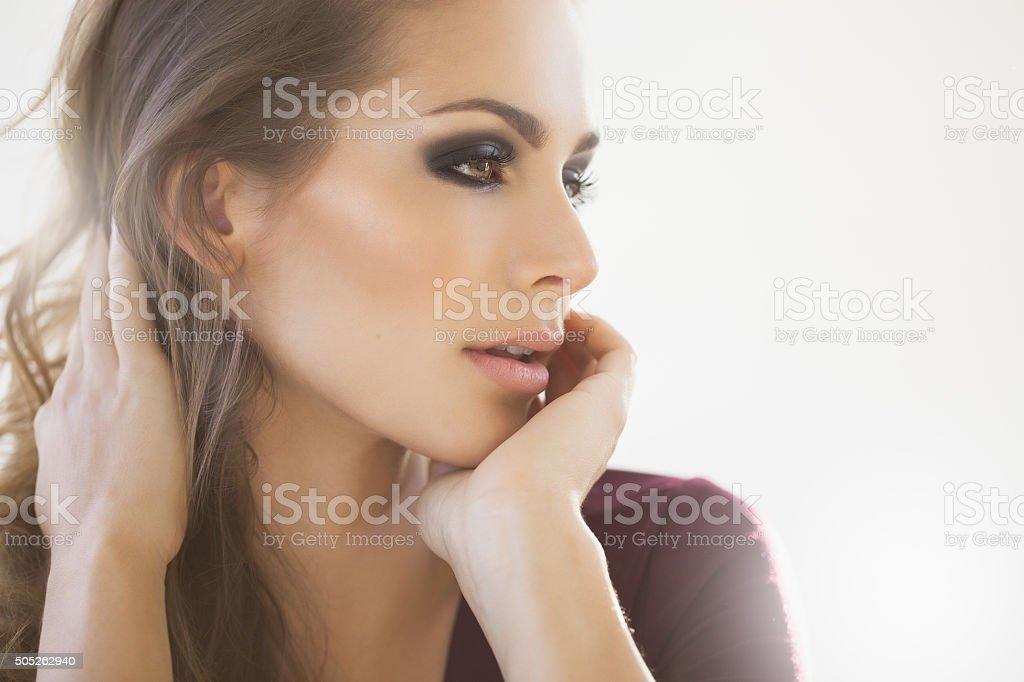 Beautiful Dreamy Woman stock photo