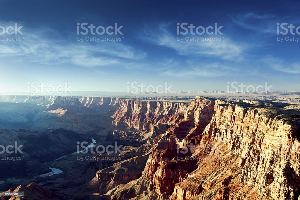 Beautiful Dusk View of the Grand Canyon stock photo