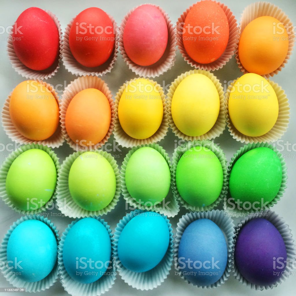 Beautiful Dyed Easter Eggs
