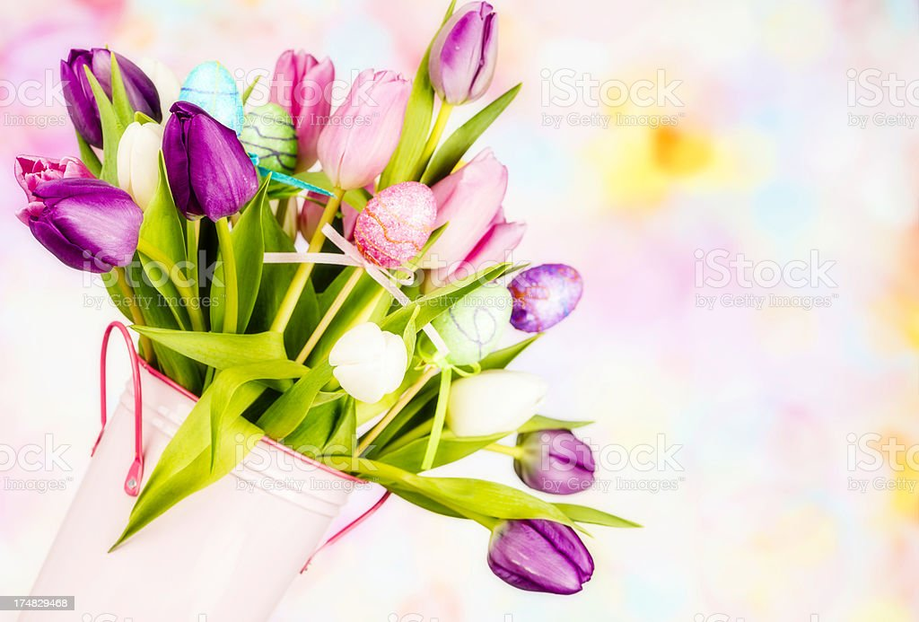 Beautiful Easter Bouquet royalty-free stock photo