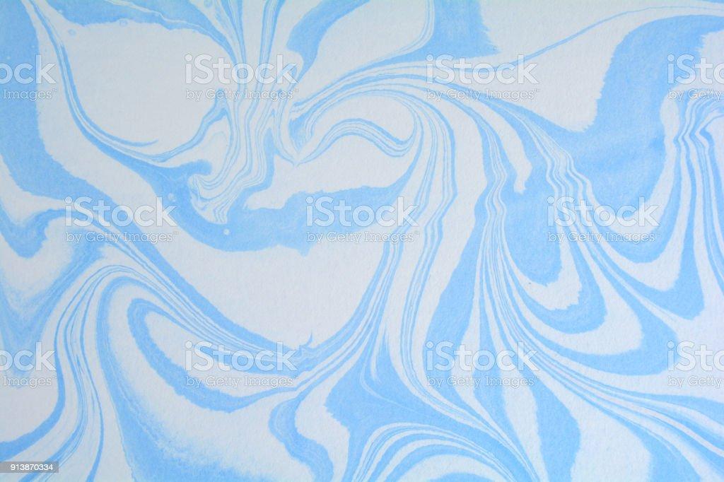 Schöne Ebru Marmor Textur Handgemachte Ebru Kunst Oberfläche ...