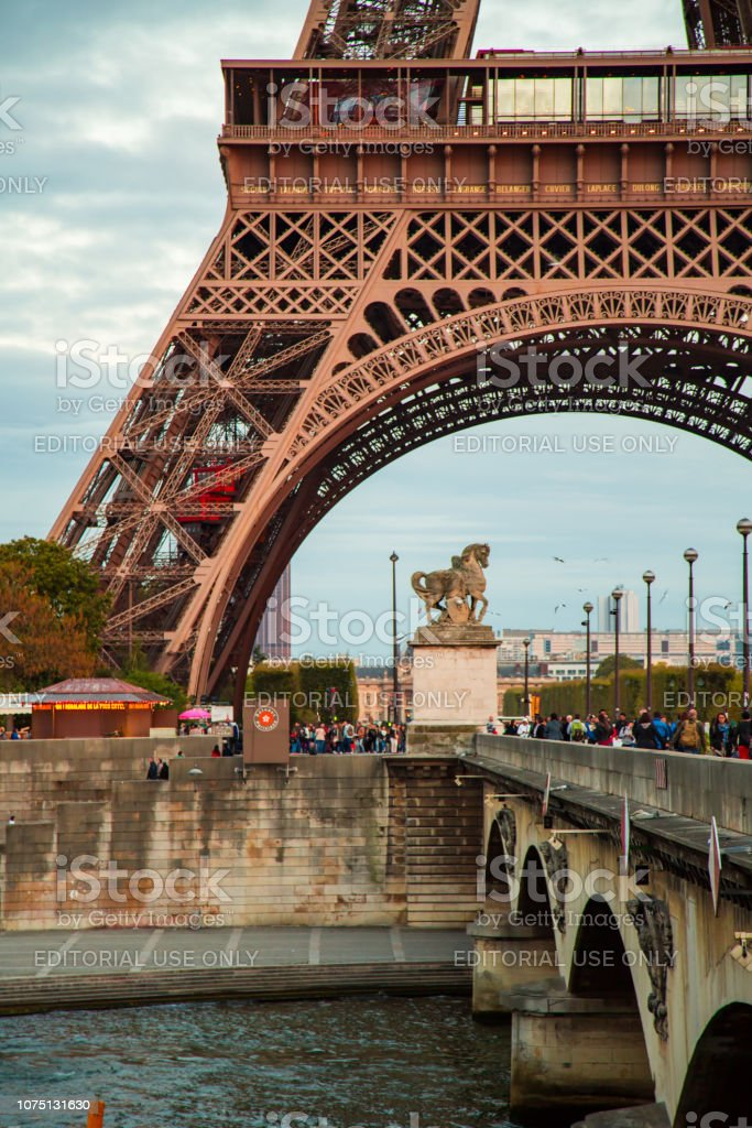 Beautiful Eiffel Tower View In Paris France Stock Photo