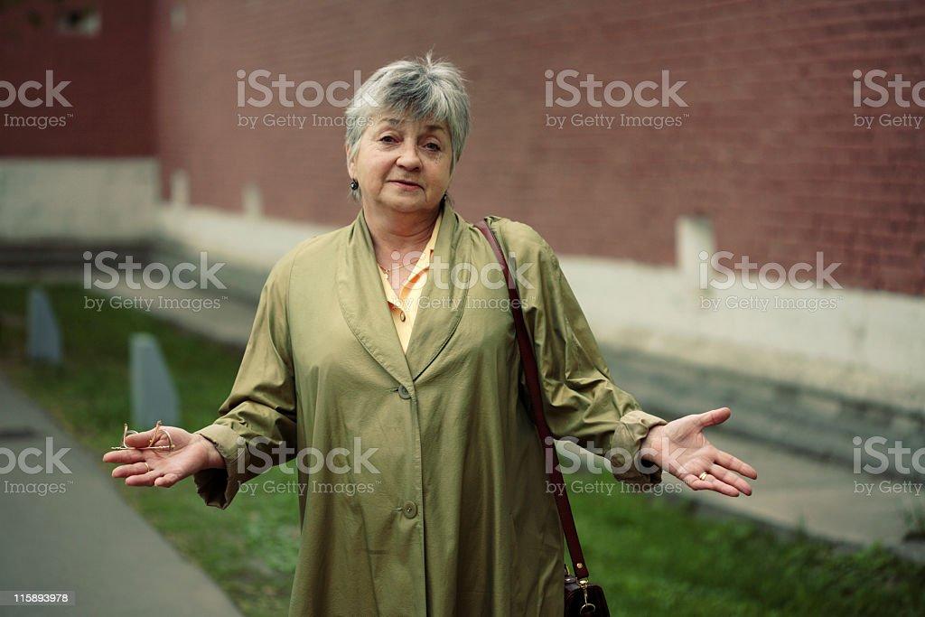 beautiful elderly woman stock photo