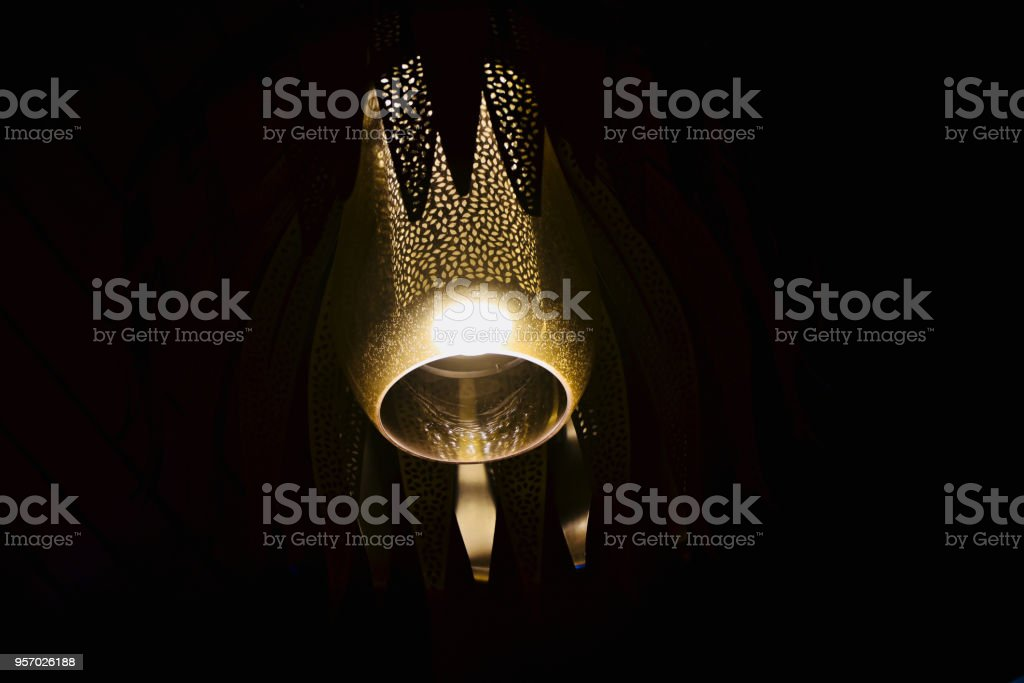 Beautiful electric interior lights unique photo royalty-free stock photo