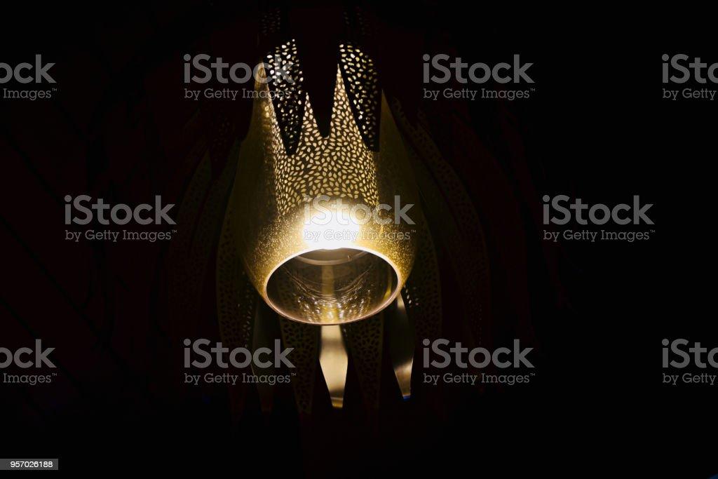 Beautiful electric interior lights unique photo stock photo