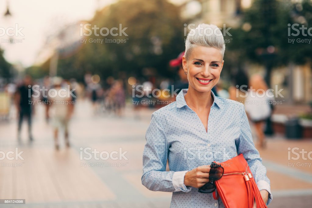 Beautiful elegant middle aged woman royalty-free stock photo