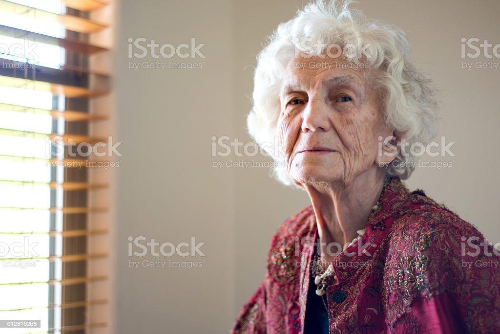 Beautiful Elegant Senior Woman Portrait stock photo