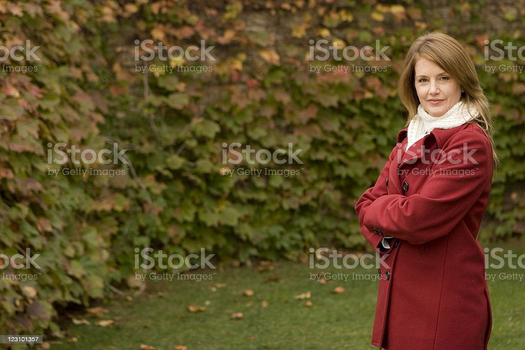 Beautiful Elegant Woman in red royalty-free stock photo