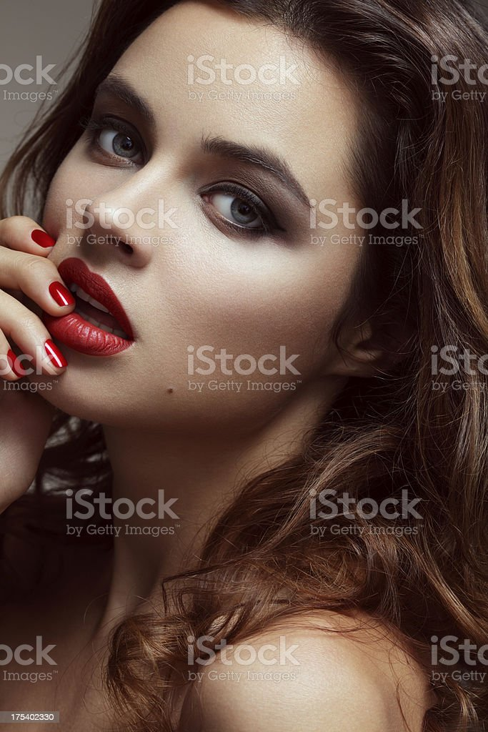 Beautiful elegant woman royalty-free stock photo
