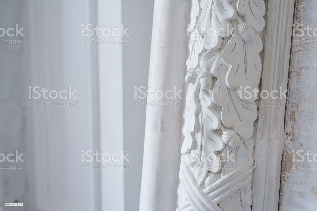Beautiful Elements Of Luxury Wall Design White Stucco Mouldings Over Stock Photo Download Image Now Istock