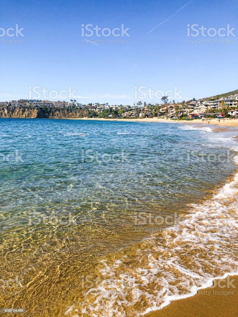 Beautiful Emerald Bay, Laguna Beach stock photo