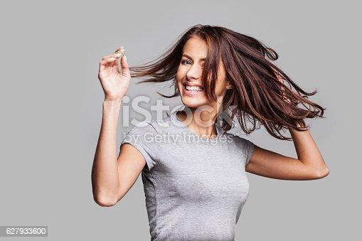 638678178 istock photo Beautiful emotional woman enjoying life 627933600