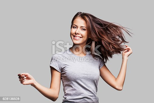 istock Beautiful emotional woman enjoying life 628136528
