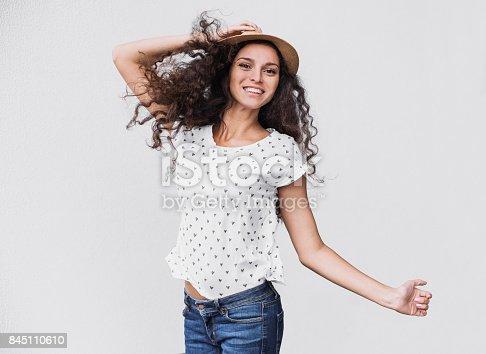 638678178 istock photo Beautiful emotional woman having fun 845110610