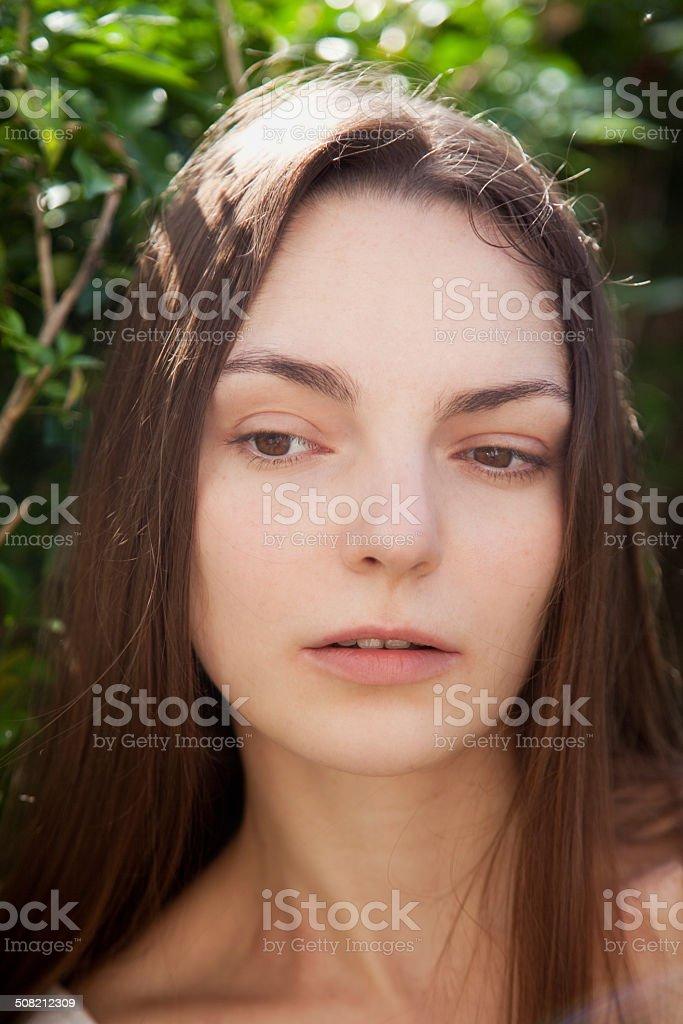Beautiful emotional woman stock photo