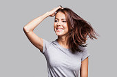 Beautiful laughing woman portrait