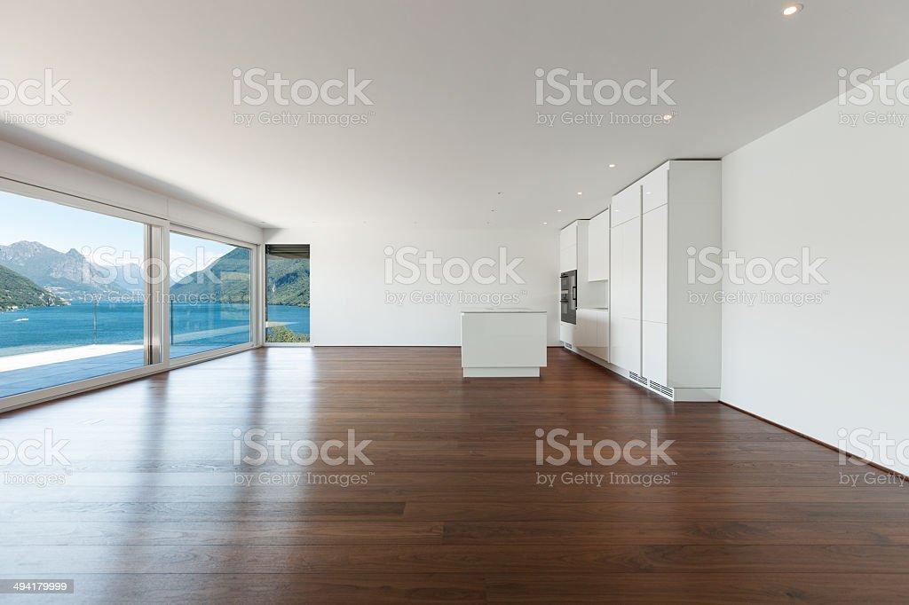 beautiful empty apartment stock photo