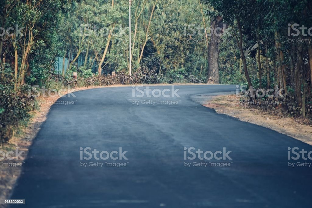 Beautiful empty road isolated stock photo royalty-free stock photo
