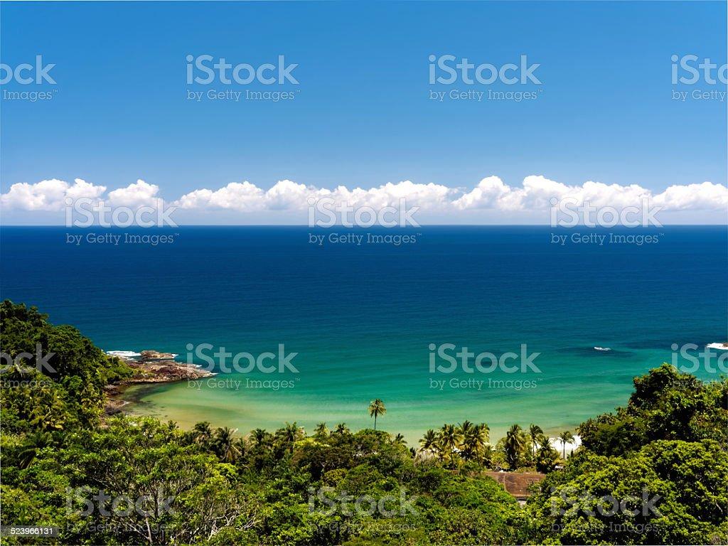 Beautiful engenhoca beach in Itacare, Bahia, Brazil. stock photo