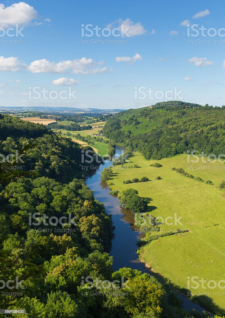 Beautiful English countryside Wye Valley Gloucestershire England UK stock photo