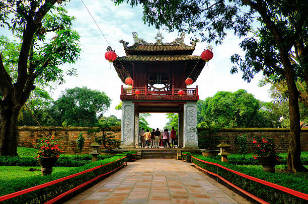 Beautiful Entrance At The Temple Of Literature (Van Mieu) Hanoi Beautiful Entrance At The Temple Of Literature (Van Mieu) Hanoi hanoi stock pictures, royalty-free photos & images