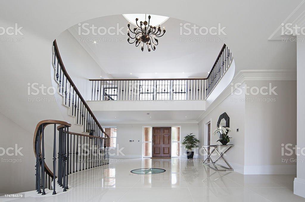 beautiful entrance hall stock photo