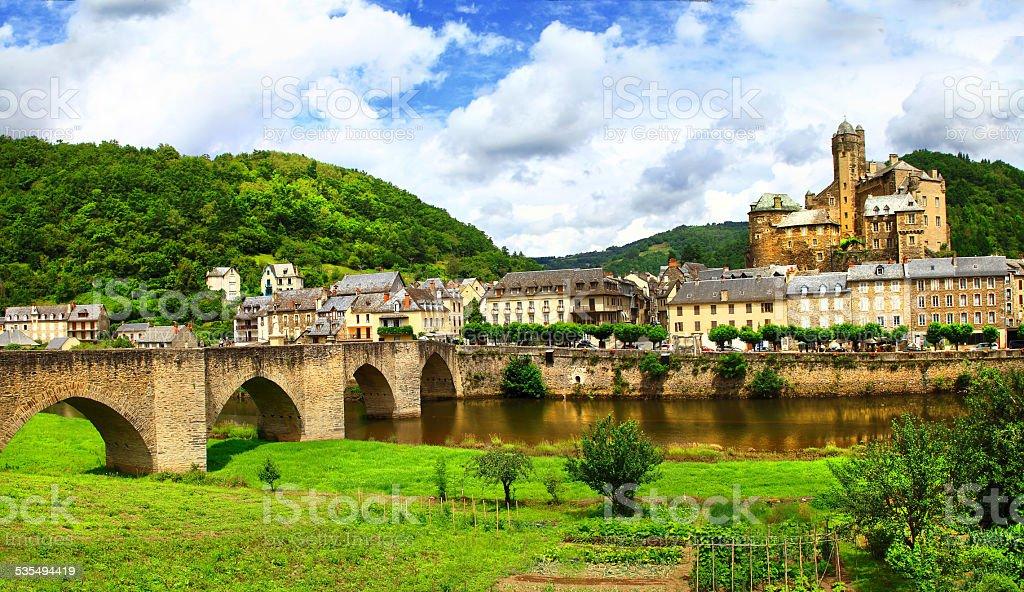 Beautiful Estaing.France stock photo