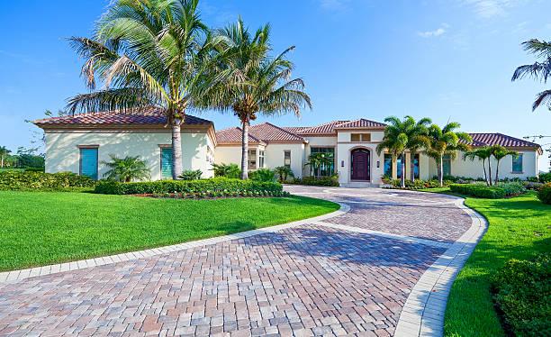 Beautiful Estate Home in Florida stock photo