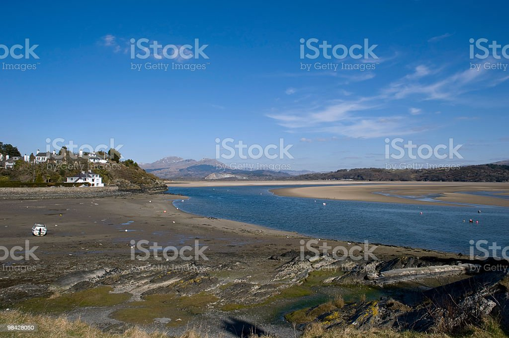Beautiful Estuary in Pothmadog, North Wales royalty-free stock photo
